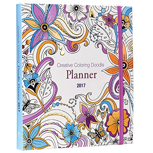 2017 Creative Coloring Doodle Inspirational Daily Planner