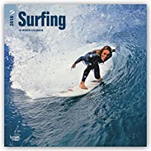 Surfing 2018 12 x 12 Inch Monthly Square Wall Calendar
