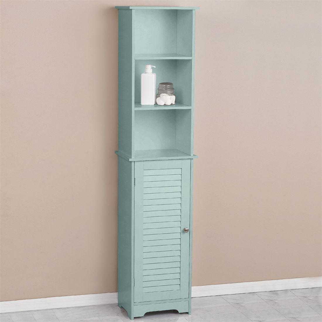 Amazon.com: BrylaneHome Louvre Tall Cabinet (Seafoam,0): Home & Kitchen