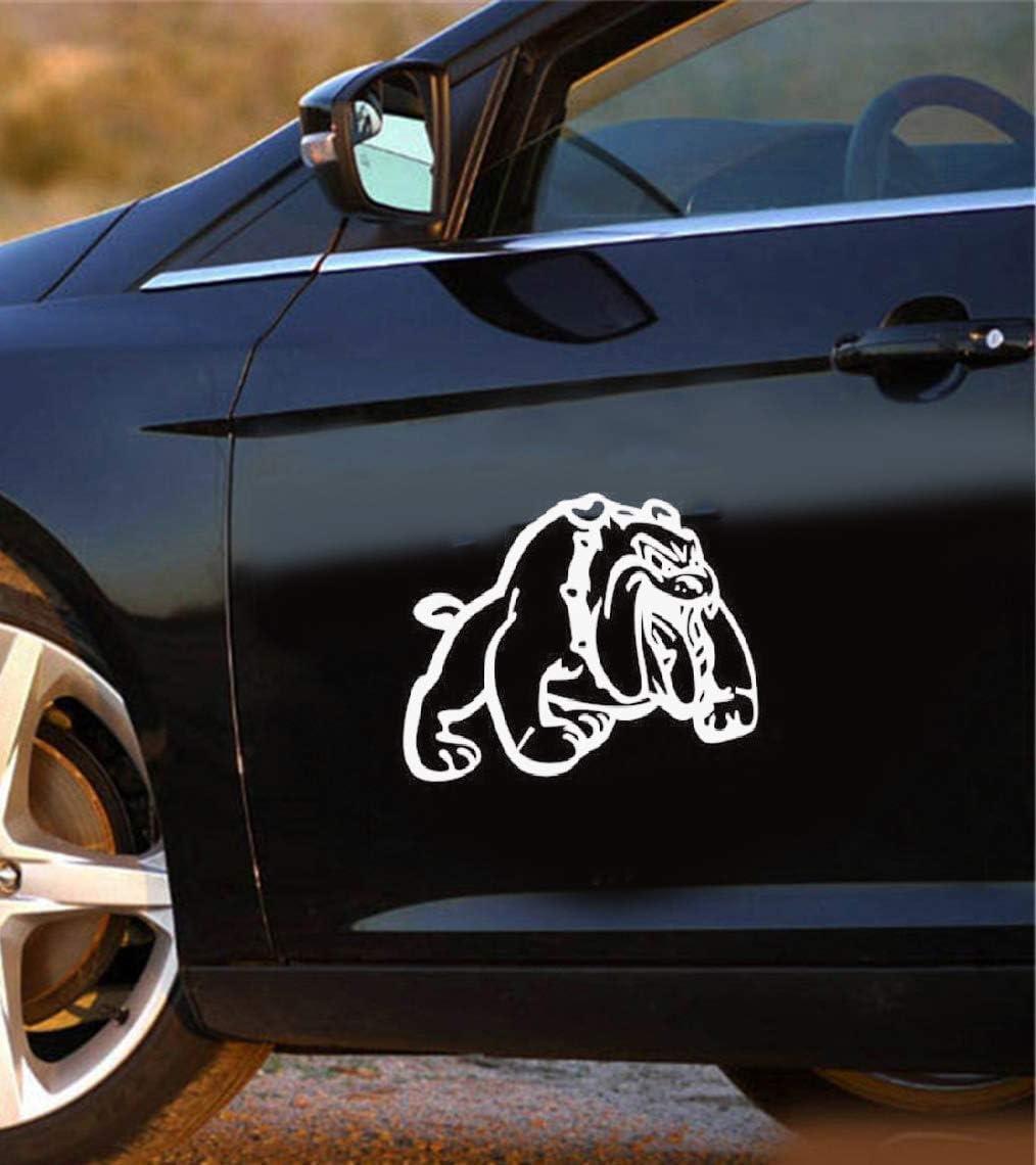Promini calcomanía de vinilo antipolvo Ferocious Bulldog francés decoración coche calcomanías divertidas mascotas perro coche pegatinas para ventana de coche portátil 6 pulgadas