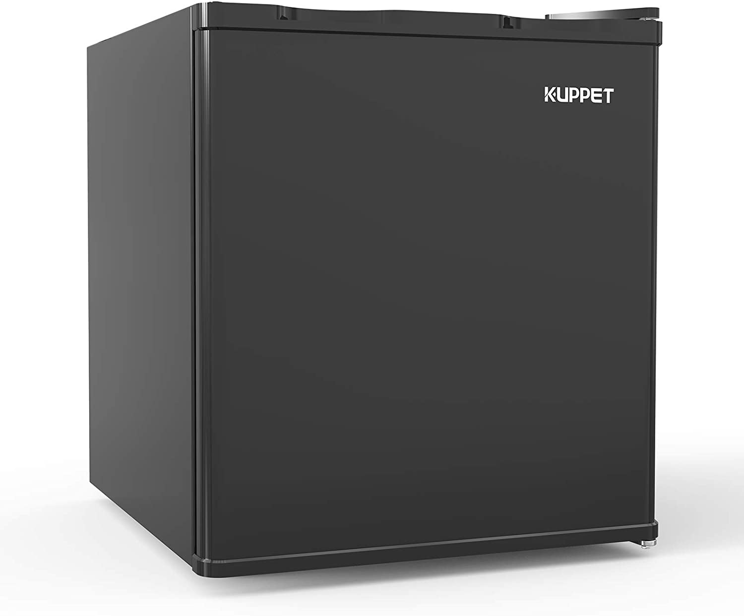 KUPPET Compact Upright Freezer, Single Door, Reversible Stainless Steel Door, Adjustable Removable (Black, 1.1 cu. ft.)