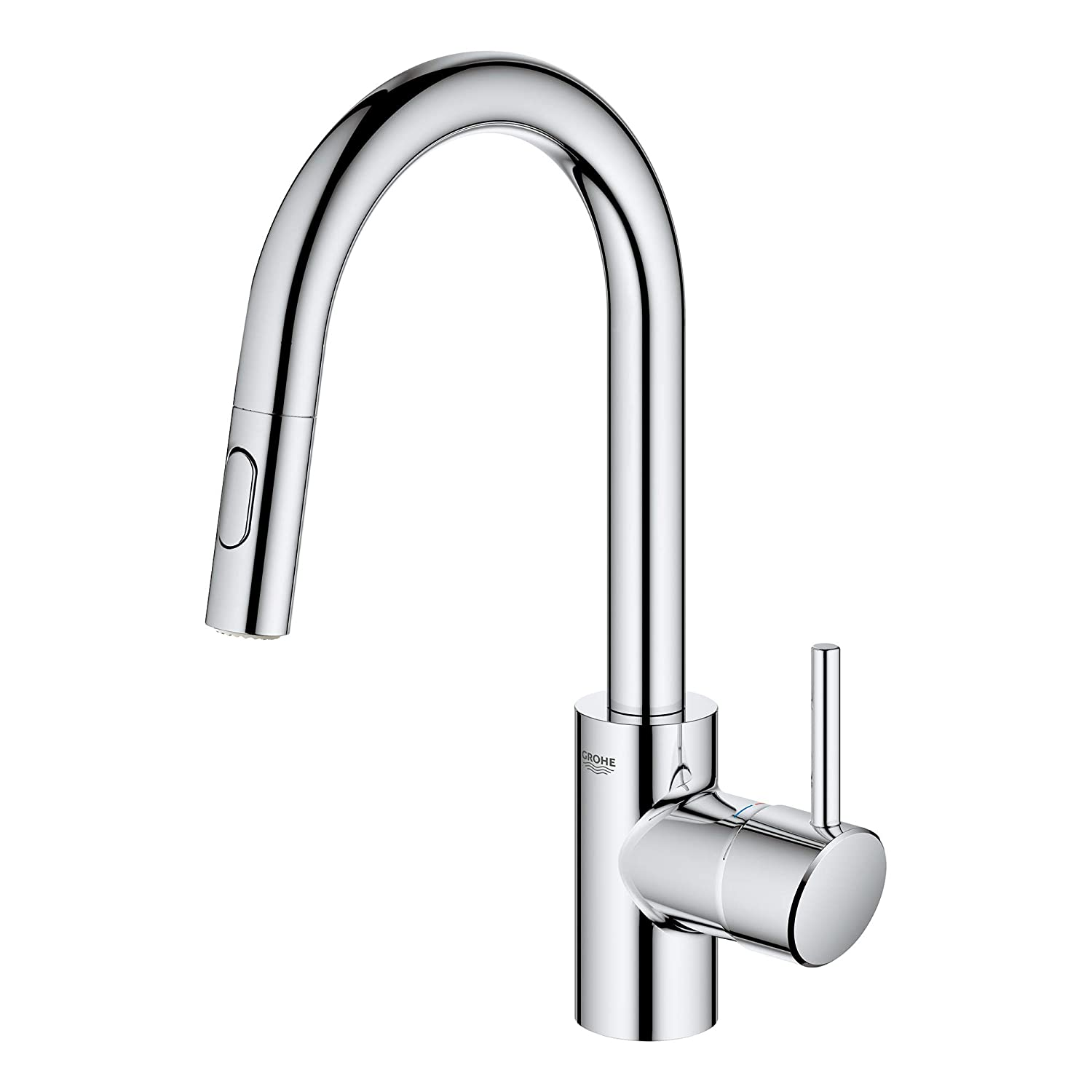 GROHE 31479001 Concetto Single-Handle Kitchen Faucet Starlight Chrome