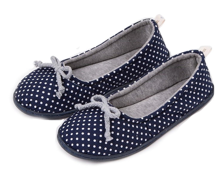 sunrolan ailsa women s cotton soft ballerina flats house slippers
