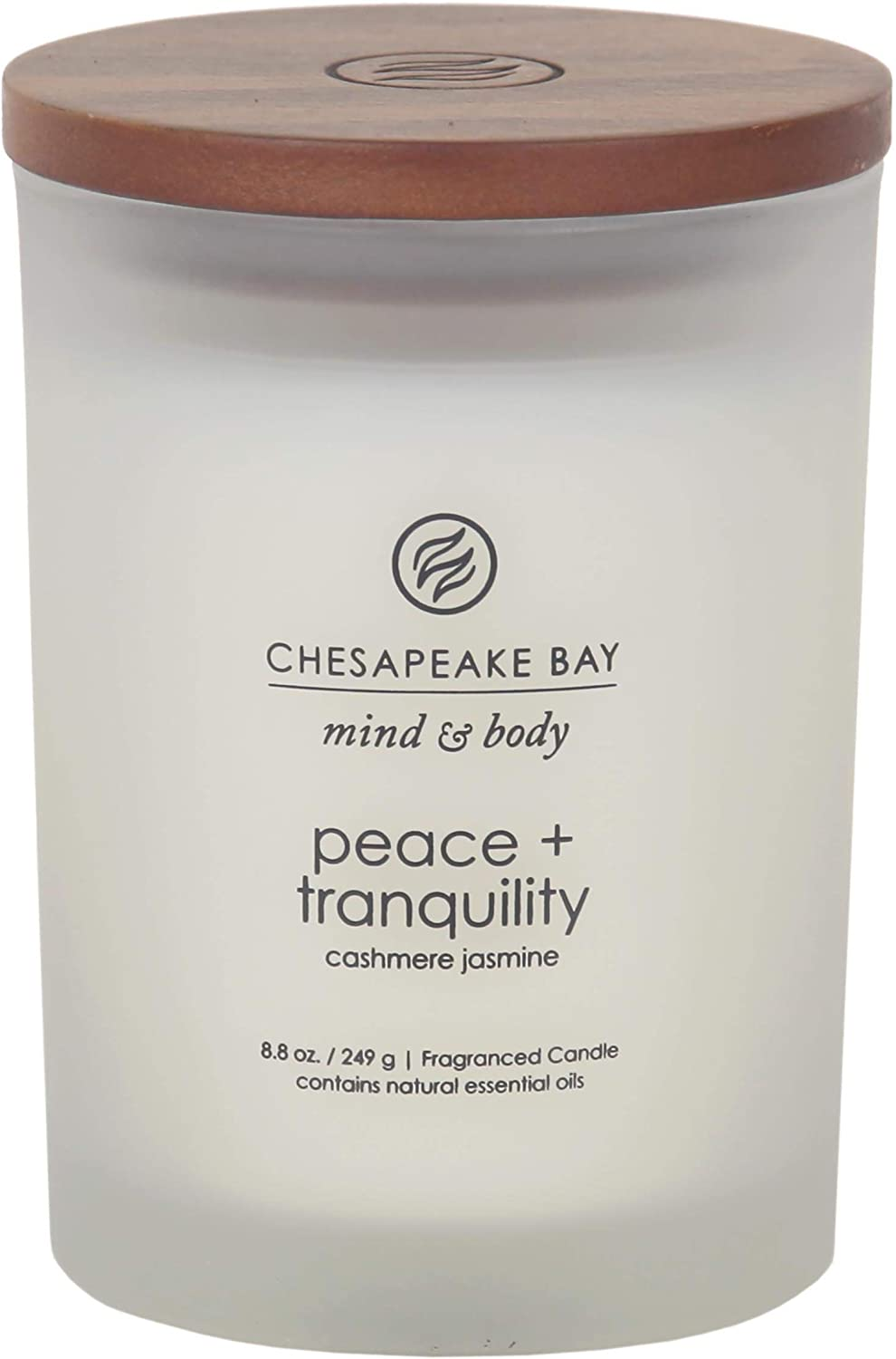 Chesapeake Bay Candle Scented Candle, Peace + Tranquility (Cashmere Jasmine), Medium