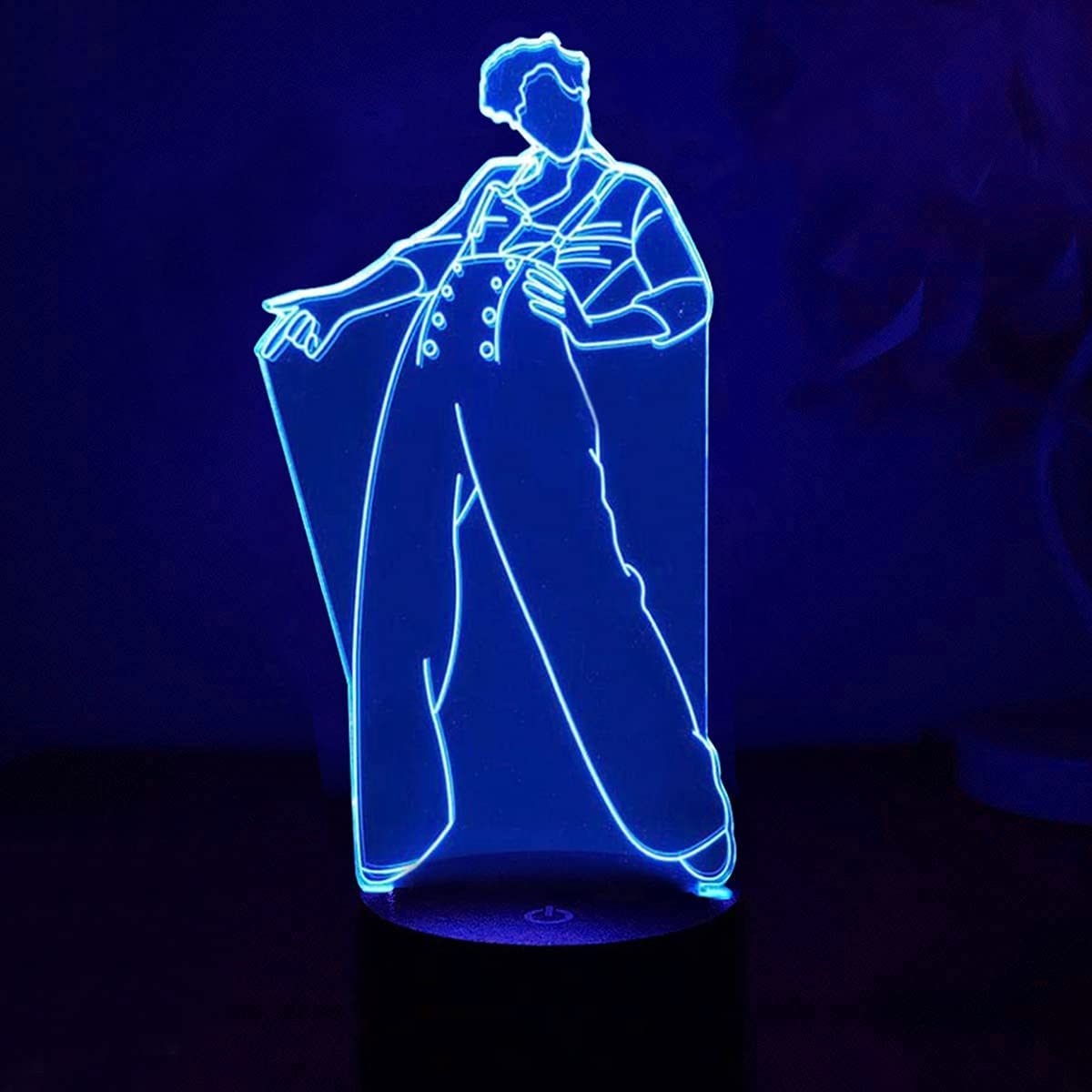 3D Night Light Harry Styles, 16 Colors Changing Remote Control and Smart Touch 3D Vision Lamp Singer Idol Creative Control Styles, Decor Bedside Table Lamp Birthday Gifts Toys for Harry Styles Fans