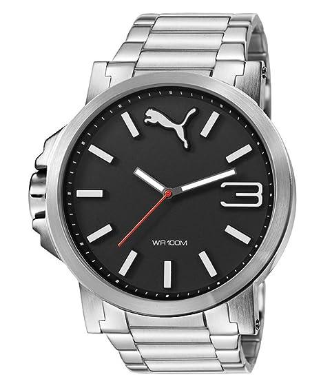 7de503947 Puma Ultrasize Metal - Reloj análogico de cuarzo con correa de acero  inoxidable para hombre
