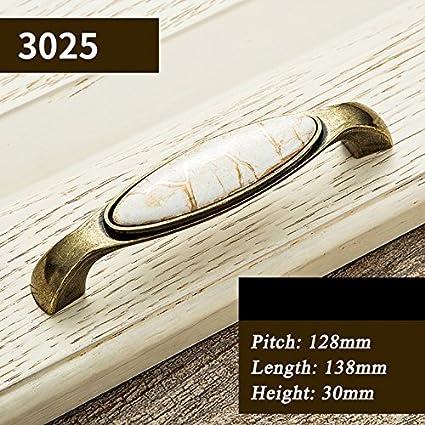 Shomy S2 : Antique Door Handles Marble Vein Knobs and Handles Ceramic  Handles for Kitchen Cupboards - Shomy S2 : Antique Door Handles Marble Vein Knobs And Handles