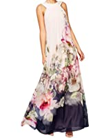 HUIJSNQ 2017 Vestido Long Flower Dress Retro Bohemian Maxi