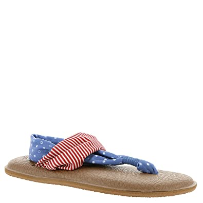 Sanuk Women's Yoga Sling 2 Prints Patriot Sandals America Dots/Stripes 5 mjSZHSLs