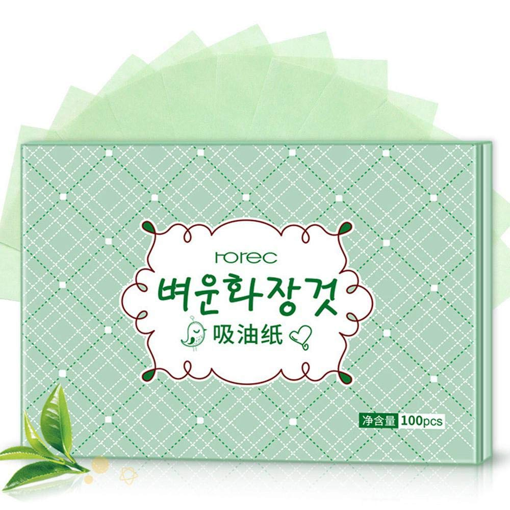 KOBWA Facial Oil Absorbing Paper - 100Pcs, Oil Blotting Sheets, Blotting Papers Oil Absorbing Tissues for Face
