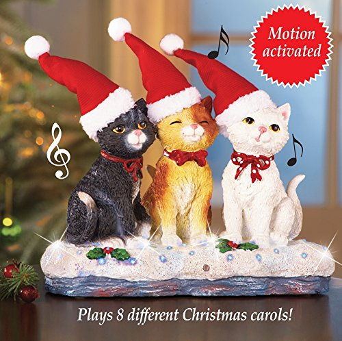 Collections Musical Christmas Cat Trio Tabletop (Motion Detectors Collection)