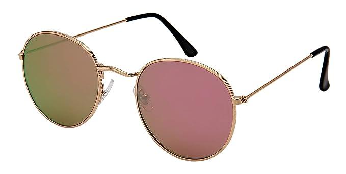 6edaf425e3 Edge I-Wear Small Retro John Lennon Round Sunglasses Women Men 5146-FLPKREV(