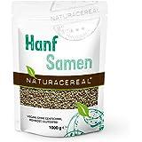 NATURACEREAL Hanfsamen NATUR, 1.000g - Proteinquelle + Omega-3, vegan, glutenfrei, ohne Gentechnik