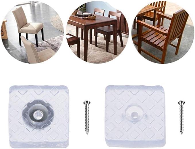 ARTISAN-SH 12St/ück Quadratisch Gummipuffer 30x30mm,Elastikpuffer Gummif/ü/ße Schraubbar,Schutz M/öbel B/ürostuhl /& empfindliche B/öden Tisch schwarz