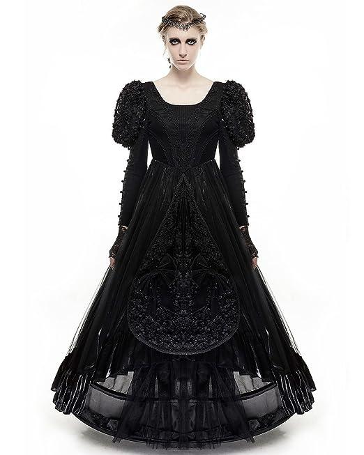 Vestido negro gotico