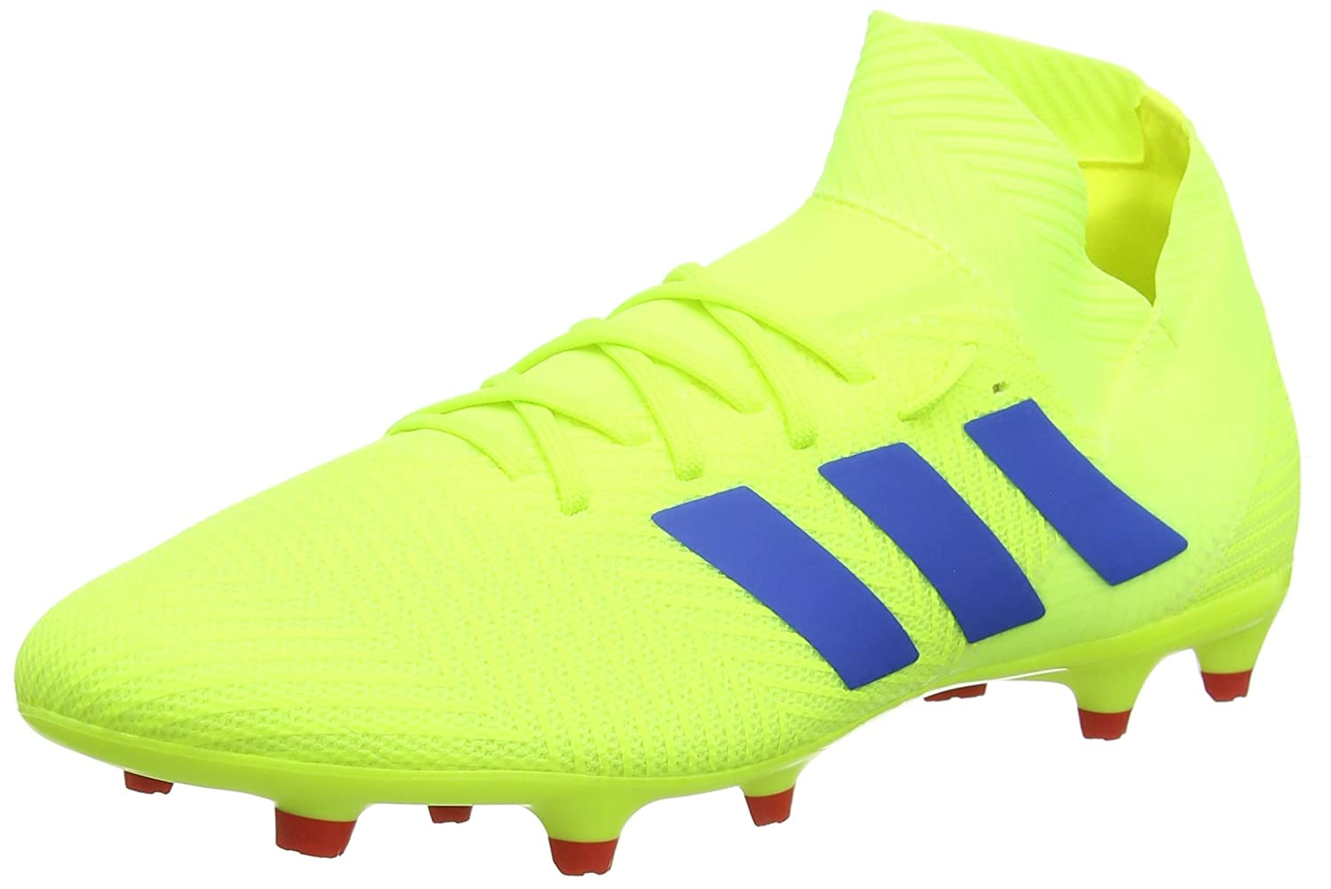 Jaune (Solar jaune Football bleu Active rouge Solar jaune Football bleu Active rouge) adidas Nemeziz 18.3 FG, Chaussures de Football Homme 45 EU