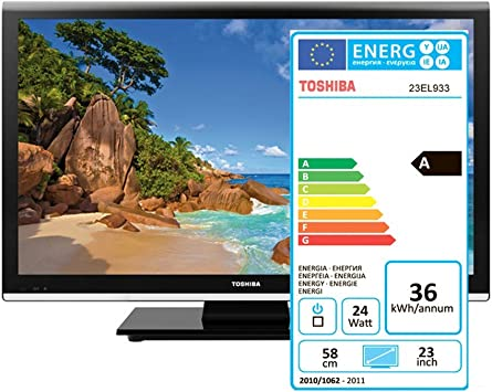 Toshiba 23EL933G - Televisor LED de 23 pulgadas Full HD (100 Hz) color negro: Amazon.es: Electrónica