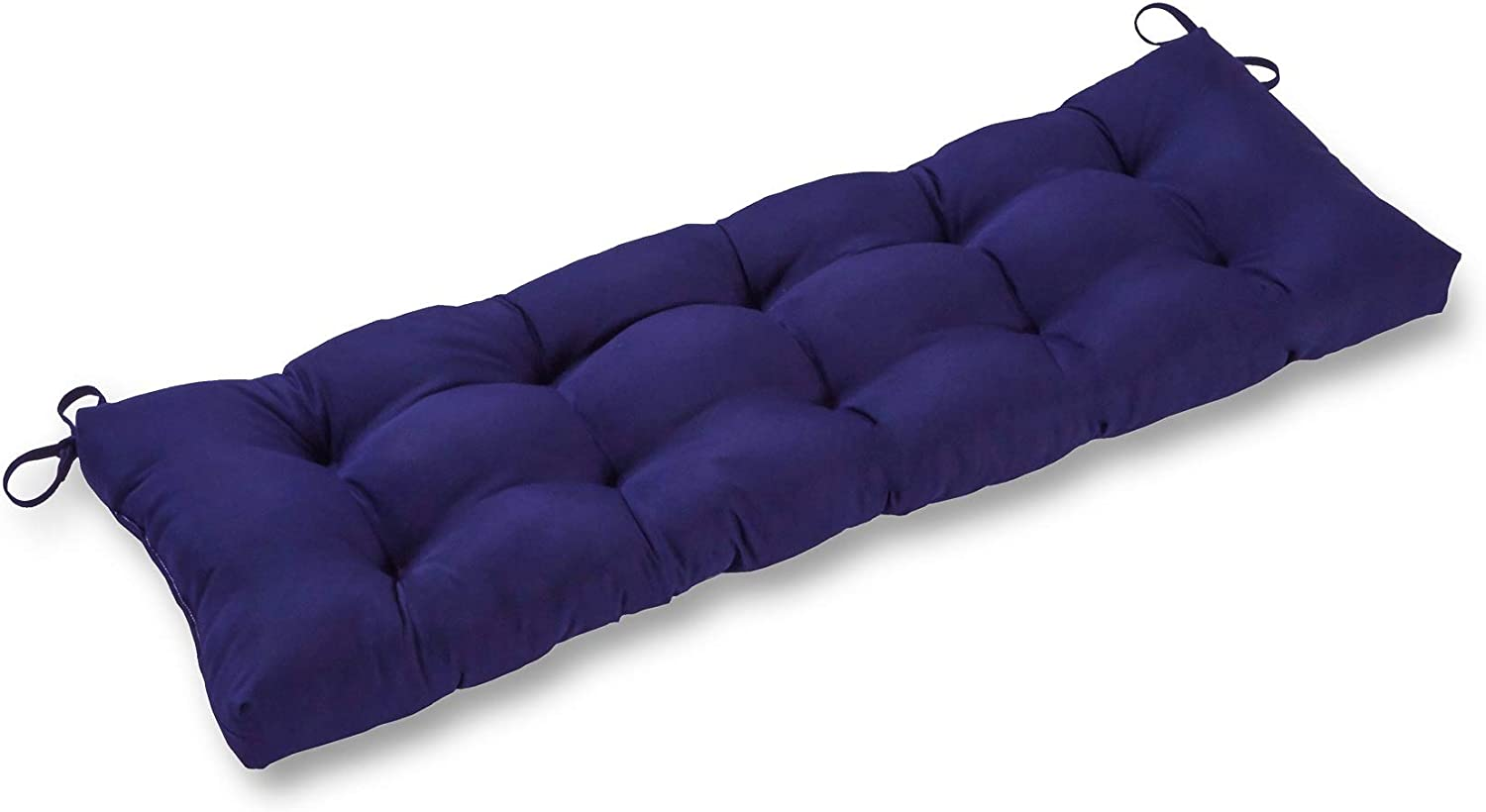 South Pine Porch AM5812-NAVY Solid Navy 51-inch Outdoor Bench Cushion, 51x18