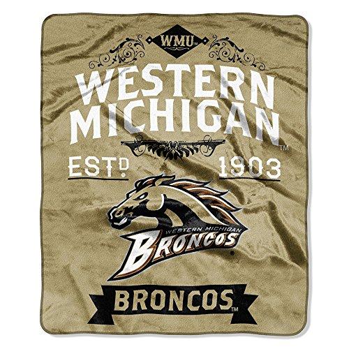 Western Michigan Broncos Wall (The Northwest Company NCAA Western Michigan Broncos Label Raschel Throw, 50-Inch by)