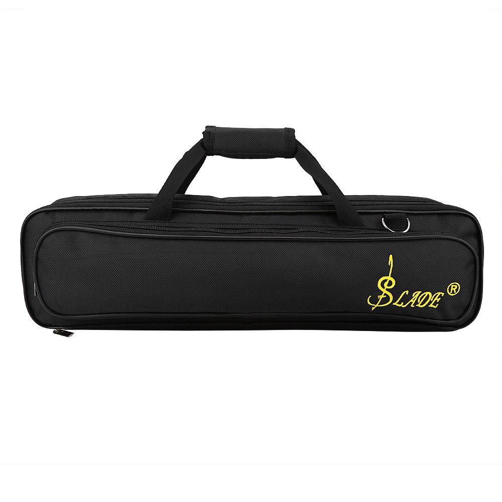 Dilwe Flute Bag, Oxford Cloth Flute Carry Case with Adjustable Shoulder Strap Zipper Pocket Cotton Padded
