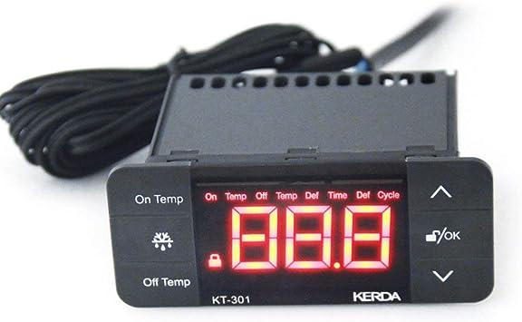 KT-301 Controlador de Temperatura Termostato Frigorífico Sensor ...