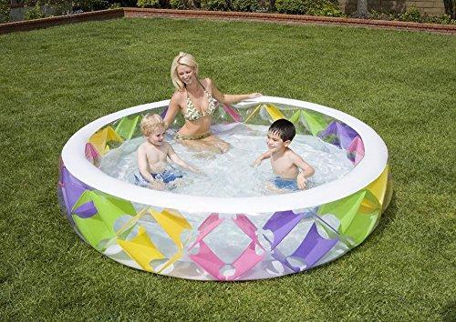 Pearlescent Pool - Intex Pinwheel Swimming Pool, Multicoloured, 3.INT56494