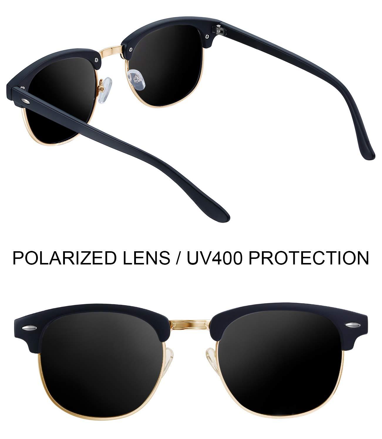 27a017e150 Joopin Semi Rimless Polarized Sunglasses Women Men Brand Vintage Glasses  Plaroid Lens Sun Glasses (Matte Black Frame Grey Lens)