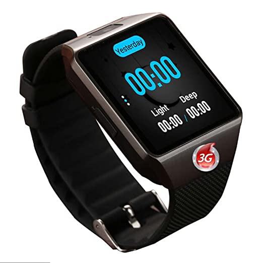 Reloj Inteligente, Reloj de Pulsera Bluetooth con cámara/Ranura para Tarjeta SIM/podómetro
