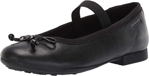 Geox Plie Girls Black Brogue School Shoe