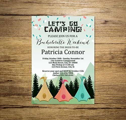 Amazoncom Bachelorette Weekend Camping Invitation Mountains and
