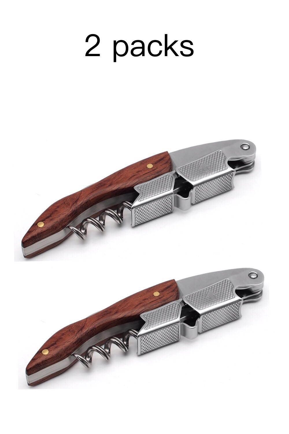 Freetor 3 in 1 Corkscrew – Professional Grade Natural Rosewood 3 in 1 Corkscrew,Bottle Opener and Foil Cutter, the Favoured Choice of Sommeliers,Waiters and Bartenders Around the World(2 PACK) by Freetor