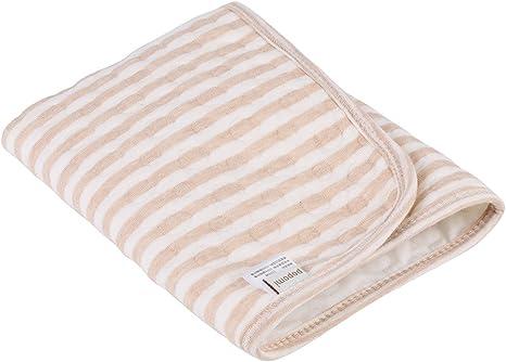 Colchón cambiador de pañales, de algodón orgánico para bebés con aislamiento de orina impermeable para bebés de 0 a 3 años de edad: Amazon.es: Bebé