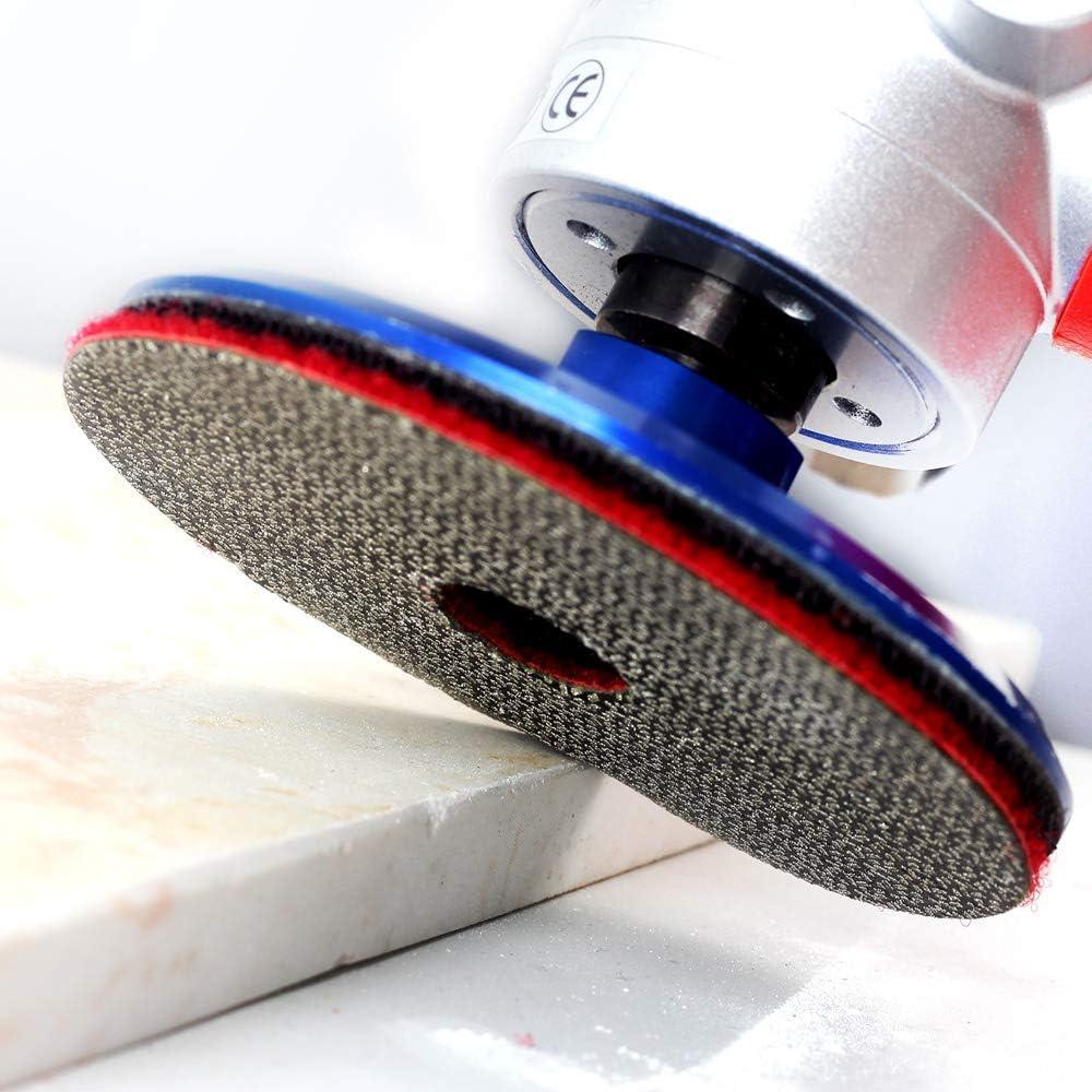 4 Electroplated Diamond Polishing Pads Diamond Flexible Polishing Pads hand Glass Granite Marble for Sanding Polishing Surfaces 4