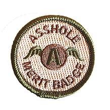 Multicam Asshole Merit Badge Tactical Velcro Morale Patch