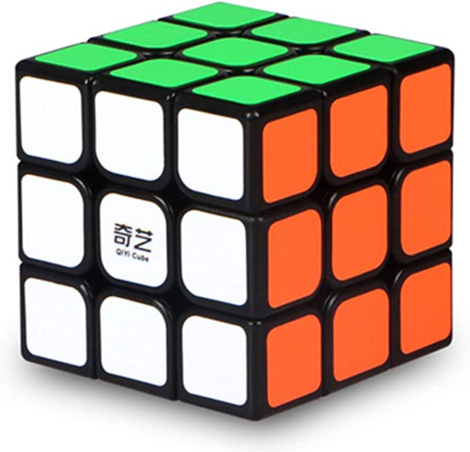 Agami 3x3 QiYi Black Thunderclap High Speed Rubiks Rubiks 3D Puzzle Rubix Rubic Cube(Black Base, Multi Colour)