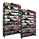 USA Premium Store 20-Tier Shoe Rack 100 Pair Wall Bench Shelf Closet Organizer Storage Box Stand