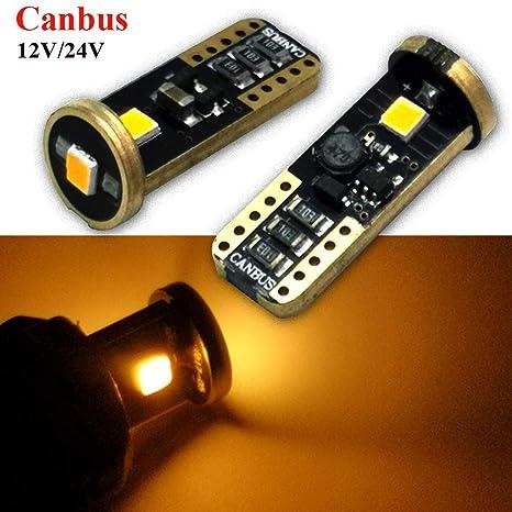 Ruiandsion T10 194 168 foco LED Canbus sin errores de polaridad super brillante 12 – 24