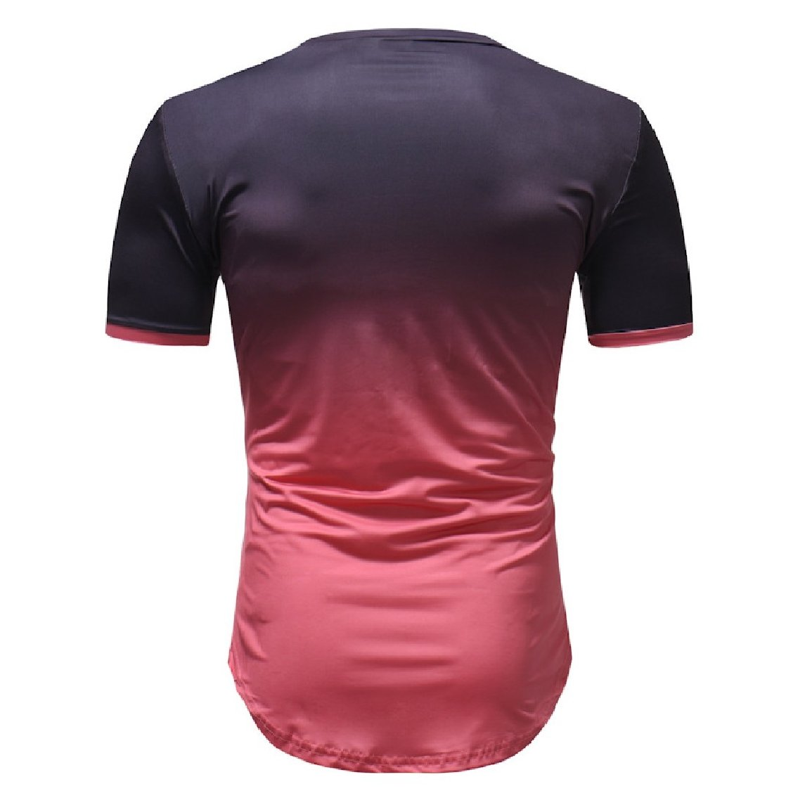 Nicelly Men Short-Sleeve Ombre Fitted Cozy Summer Classic T-Shirt Top