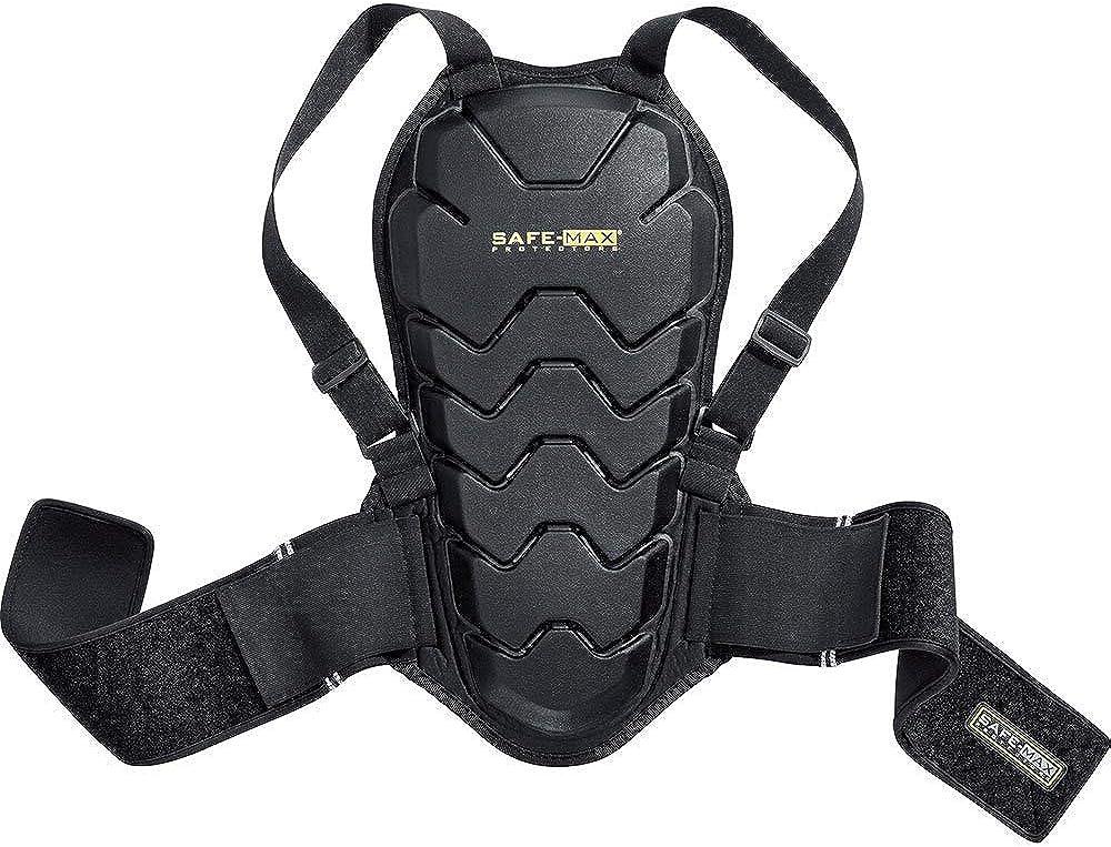 plastica unisex classe di protezione 2 multiuso Safe Max/® Paraschiena moto uomo e donna paraschiena 04 per tutte le stagioni