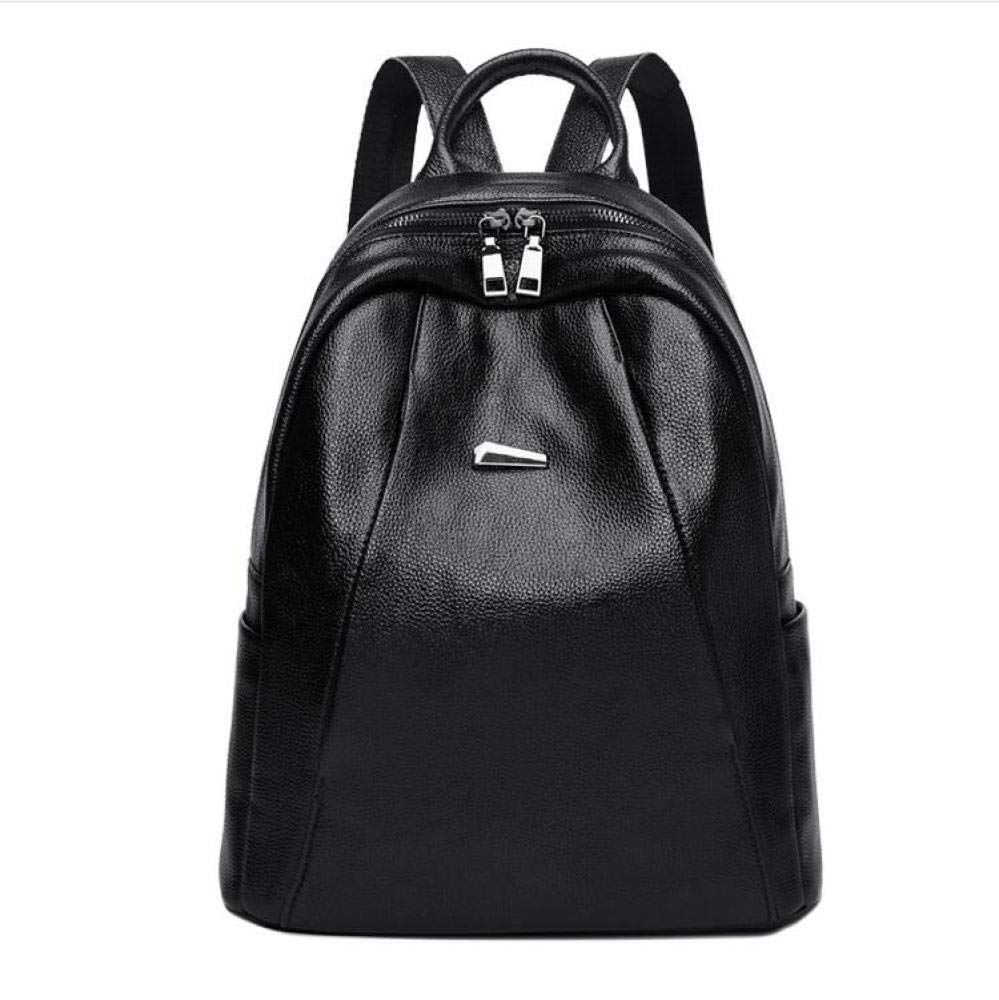 Sxuefang Women Leather Backpack Leather Shoulder Baotou Layer Cow Bag Leisure Large Capacity Anti-Theft Backpack 30x15x33cm