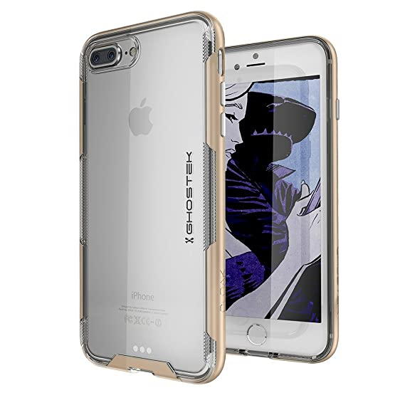 wholesale dealer abfa0 1b788 Ghostek Cloak Transparent Bumper Case Compatible with iPhone 8 Plus &  iPhone 7 Plus - Gold