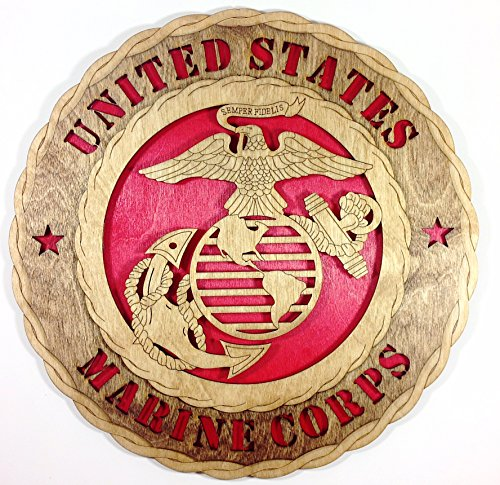 Unique Decorative Custom Laser Crafted Three Dimensional Wooden Wall Plaque - Armed Forces Marines - Custom Wall Decor