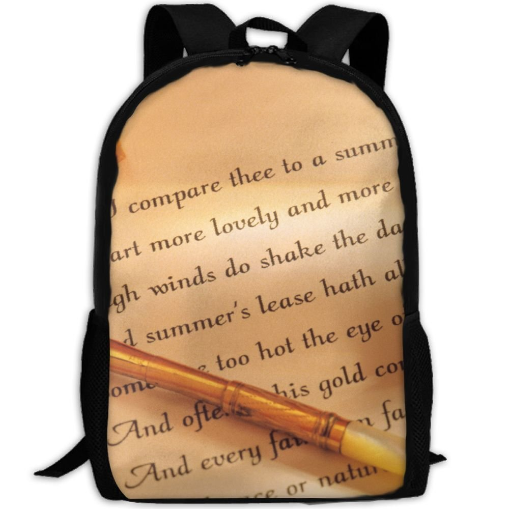 ZQBAAD How To Write A Love Letter Luxury Print Men And Women's Travel Knapsack by ZQBAAD (Image #1)