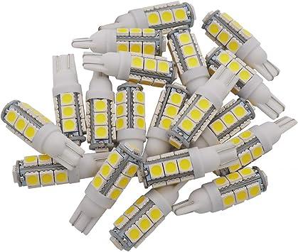 GRV T10 921 194 13-5050 SMD Wedge LED Bulb Super Bright RV Camper Cabinet Dome Light DC12V DC13V Cool White Pack of 20(2.0Generation)