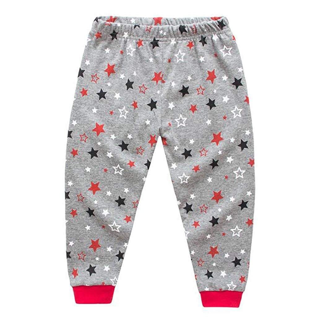 Rling Boys Pants Pajamas Spiderman Sleepwear Set Grey
