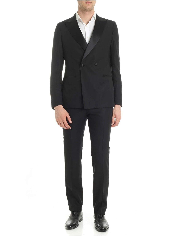 Z Zegna Men's 4228882GEZGR8R Black Wool Suit