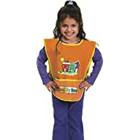 Chenille Kraft Vinyl Artist Smock fits Kids Ages 3-8, Orange