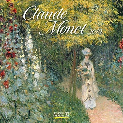 Claude Monet 2019: Kunstkalender mit Werken des Malers Claude Monet. Broschürenkalender mit Ferienterminen. Format: 30 x 30 cm