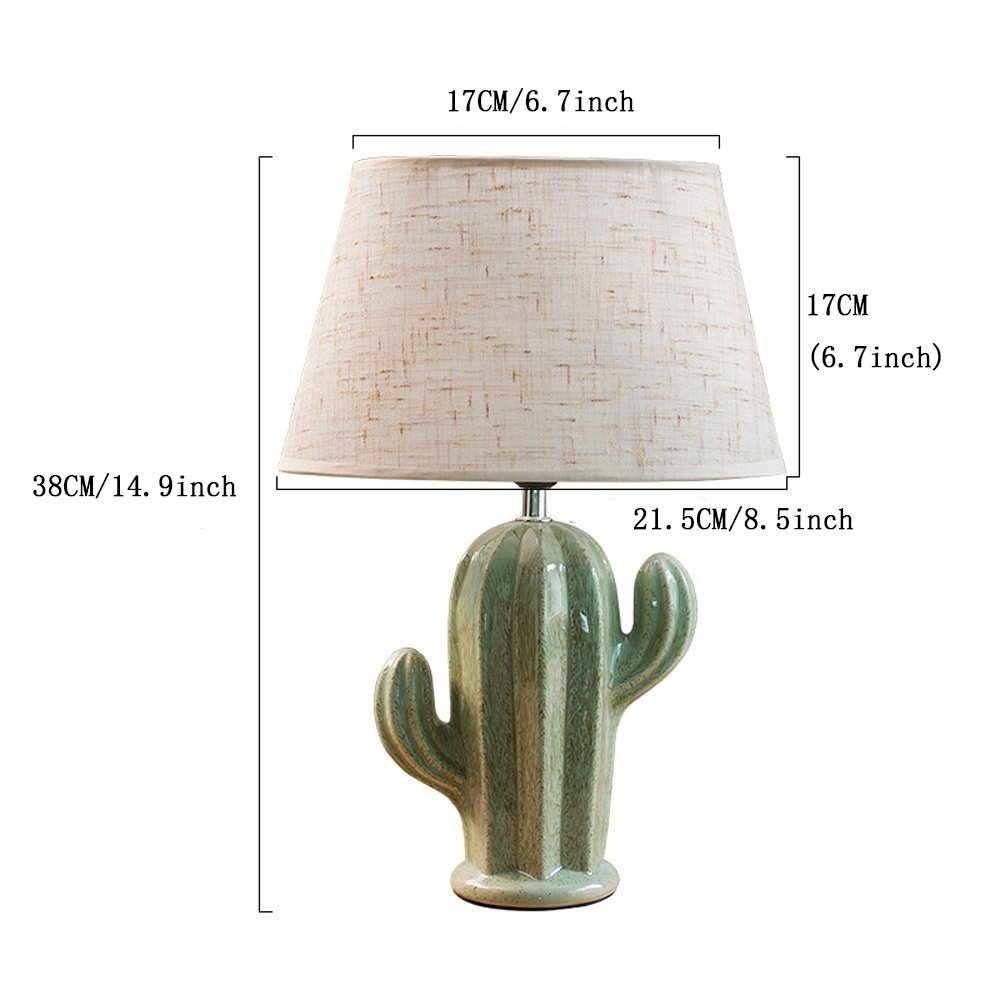 Cactus Lamp Table Lamp Home Decoration Cactus Decor Simple Design Desk Lamp for Living Room Bedroom,with Bulb by Dengbaba (Image #2)