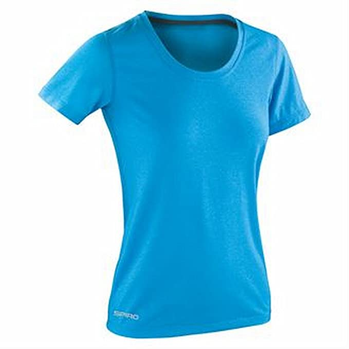 Amazon.com  Spiro Women s fitness shiny marl t-shirt  Clothing b63b7f714a